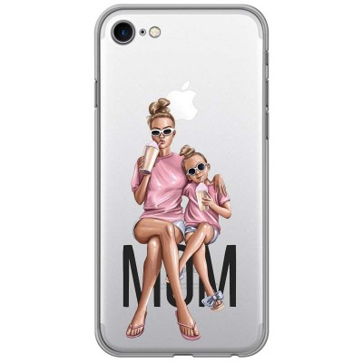 Silikonový kryt pro iPhone 7/8 Maminka s dcerou