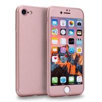 Kryt 360 pro iPhone 8/7 + tvrzené sklo na displej - růžový