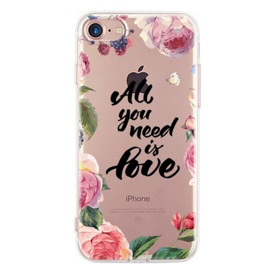 Silikonový kryt pro iPhone 7/8 Love Is All You Need