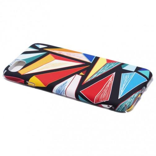 Plastový kryt pro iPhone 7/8 barevné trojúhelníky