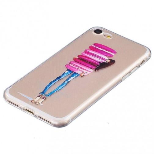 Silikonový kryt pro iPhone 7/8 Girl with macarons