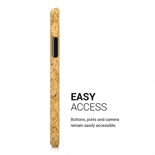 Pevné korkové pouzdro na iPhone X/XS - kwmobile