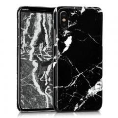Mramorový kryt na iPhone X - kwmobile, black/white