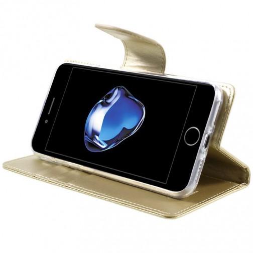 Knížkové pouzdro Mercury Bravo Diary na iPhone 7/8 zlaté