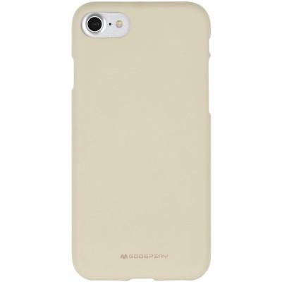 Měkké TPU pouzdro Mercury Soft Feeling na iPhone 7/8SE 2020 béžové