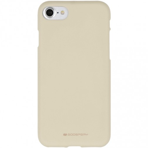 Měkké TPU pouzdro Mercury Soft Feeling na iPhone 7/8 béžové