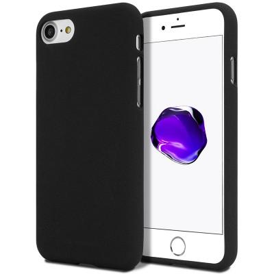 Měkké TPU pouzdro Mercury Soft Feeling na iPhone 7/8SE 2020 černé