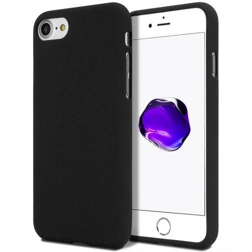 Měkké TPU pouzdro Mercury Soft Feeling na iPhone 7/8 černé