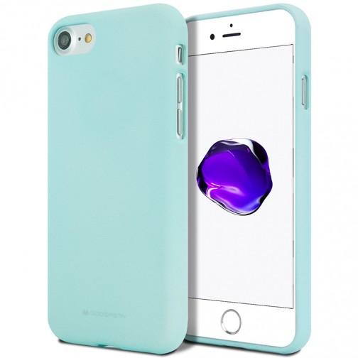 Měkké TPU pouzdro Mercury Soft Feeling na iPhone 7/8SE 2020 mentolové