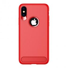 Luxusní kryt na iPhone X USAMS Muze Series, červený