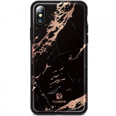 Kryt FLOVEME Agante Marble pro Apple iPhone X luxury black