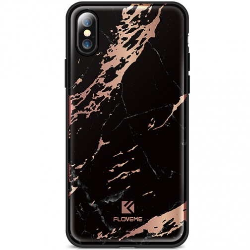 Kryt FLOVEME Agante Marble pro Apple iPhone X/XS luxury black
