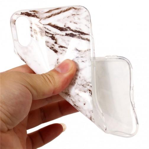 Silikonový kryt na iPhone X/XS Mramorový vzor 1