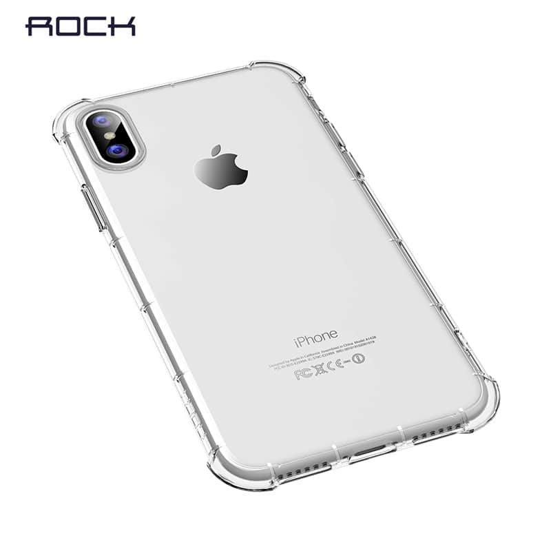 ... čirý Transparentní kryt na iPhone X XS Rock Fence S Series a1a950bab7b