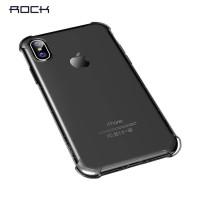 Transparentní kryt na iPhone X/XS Rock Fence S Series, černý
