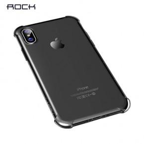 Transparentní kryt na iPhone X Rock Fence S Series, černý
