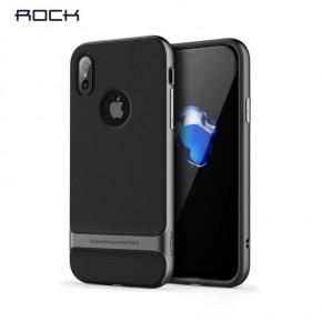Pouzdro Rock Royce Series na iPhone X, šedé