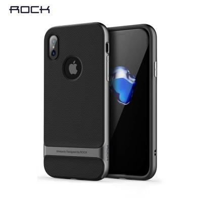 Pouzdro Rock Royce Series na iPhone X/XS, šedé