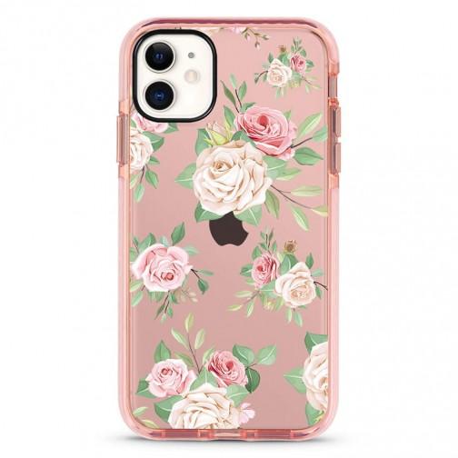 Pružný průhledný kryt pro iPhone 6/6s Poutavé růže