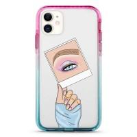 Pružný průhledný kryt pro iPhone 11 Insta Makeup