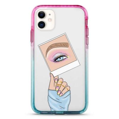 Pružný průhledný kryt pro iPhone 7/8/SE 2020 Insta Makeup