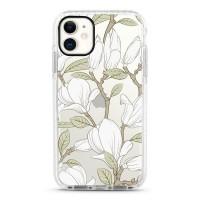 Pružný průhledný kryt pro iPhone 11 Magnolia bílá