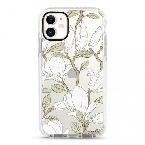 Pružný průhledný kryt pro iPhone 6/6s Magnolia bílá