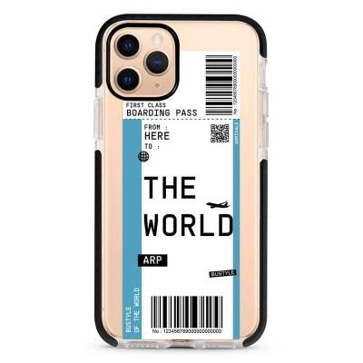 Pružný průhledný kryt pro iPhone 7/8/SE 2020 Letenka to The World