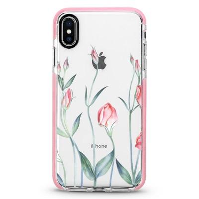 Pružný průhledný kryt pro iPhone 7/8/SE 2020 Tulipán Pink Lady