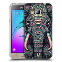 Silikonové pouzdro na Samsung Galaxy J3 (2016) - Head Case - aztec slon