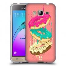 Silikonové pouzdro na Samsung Galaxy J3 (2016) - Head Case - donutky padající