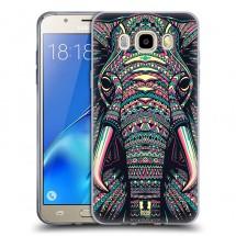 Silikonové pouzdro na Samsung Galaxy J5 (2016) - Head Case - aztec slon