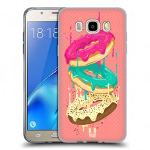 Silikonové pouzdro na Samsung Galaxy J5 (2016) - Head Case - donutky padající