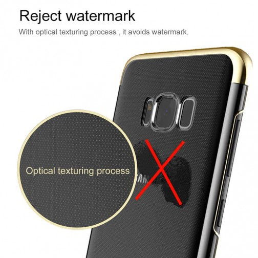 Baseus Glitter průhledný kryt na Samsung Galaxy S8 se zlatým rámečkem