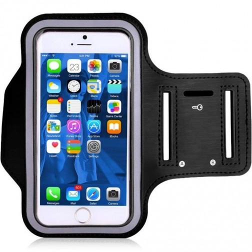 Mobilní fitness pouzdro na ruku, černé