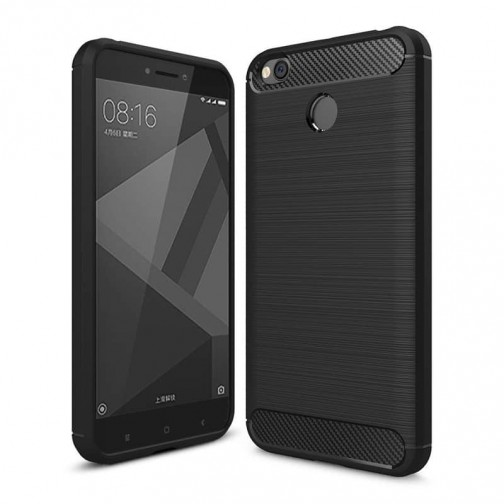Pouzdro TVC Carbon pro Xiaomi Redmi 4X - černé