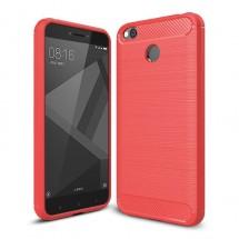 Pouzdro TVC Carbon pro Xiaomi Redmi 4X - červené