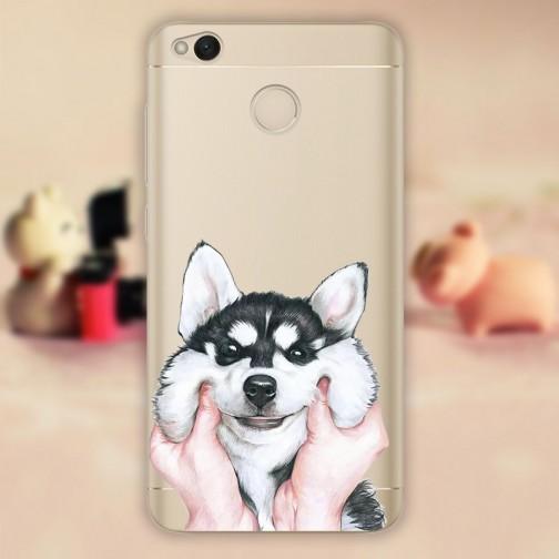 Silikonové pouzdro na mobil Xiaomi Redmi 4X Dog