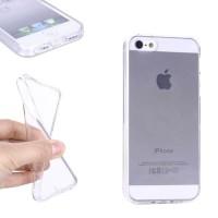 Ultratenký silikonový kryt pro iPhone 5, 5S, SE - průhledný