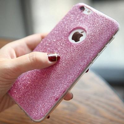 Luxusní třpytivý kryt pro iPhone 6/6s - růžový