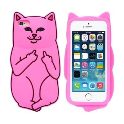 Silikonový 3D obal Kočka pro iPhone 6