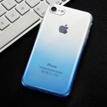 Fshang silikonový průhledný kryt pro iPhone 8/7 - modrý