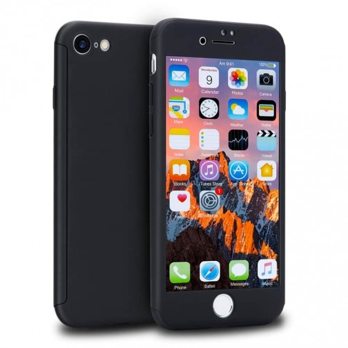 Kryt 360 pro iPhone 8/7 + tvrzené sklo na displej - černý