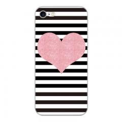 Silikonový kryt pro iPhone 8/7 Srdce a pruhy