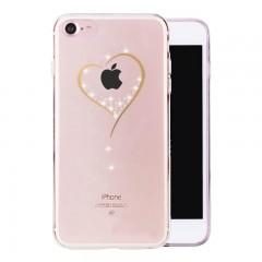 Luxusní kryt PZOZ pro Apple iPhone 8/7 Srdíčko s kamínky