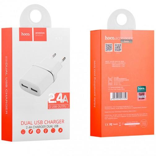 Nabíjecí adaptér HOCO C12 se dvěma USB porty 2.4 A