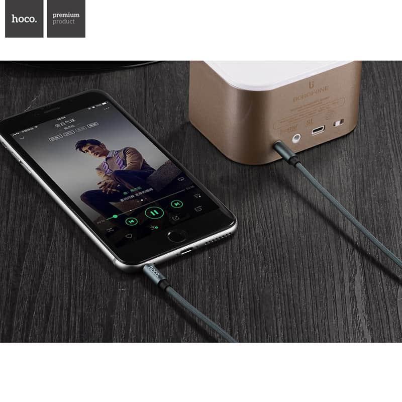 hoco propojovac aux kabel 3 5 mm 1m ern. Black Bedroom Furniture Sets. Home Design Ideas